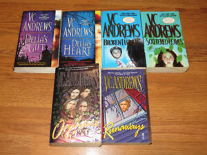VC Andrews Lot of 6 Books Orphans & Runaways, Delia's etc.