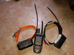 Garmin Receiver and 2  Dog Tracking Collars