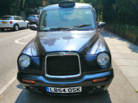 Plated London taxi