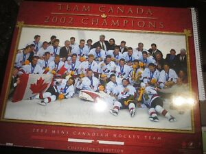 2002 Olympic GOLD picture signed by WAYNE GRETZKY!
