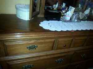 large dresser and mirror