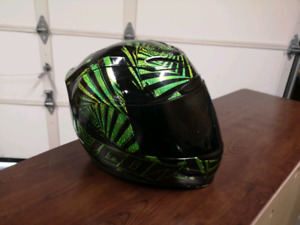 Large icon motorcycle helmet