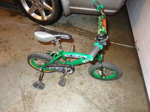 TMNT 2 wheel bike with training wheels