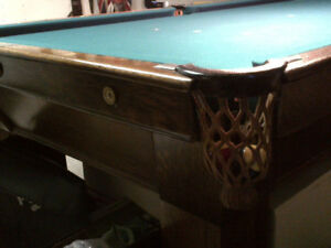 Antique Brunswick snooker table