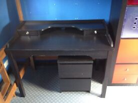 Desk and drawers