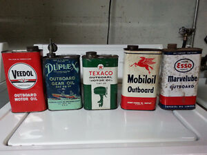 Outboard Motor Oil Cans