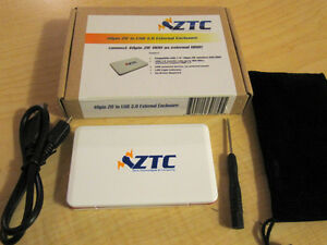 "ZTC 1.8"" HDD 40pin ZIF to USB external enclosure"