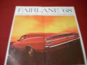 1968 Ford Fairlane sales brochure