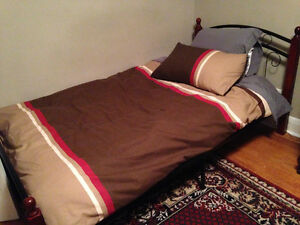 Single Bed, Duvet, Pillows, Duvey Cover and Sheets Cambridge Kitchener Area image 1