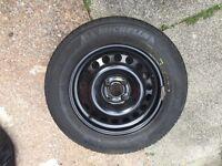 Wheel rim with tyre