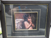 gorgeous picture in attractive frame in glass 15.00