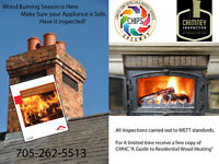 Fireplace and Woodstove inspection WETT Certified Inspector
