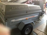 Erde 142 trailer with lockable abs lid