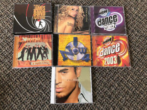 Assorted CDs from the early 2000s