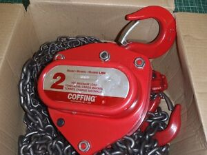 NEW 2 Ton/4000 lb Manual Coffing Chain Fall