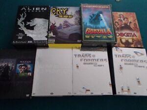 DVD Movies Alien. Transformers, Godzilla, etc.