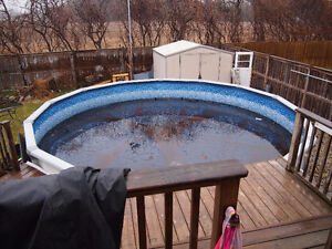 24 ft above ground pool $600 OBO