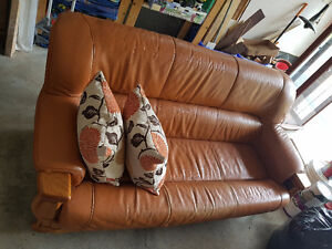 Selling used leather couch