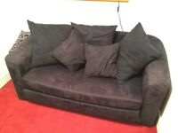 Black Sofabed With Cushions