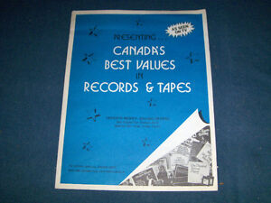 1970's TV OFFER-RECORDS & 8 TRACK TAPES-6 PAGES-ORDER FORM