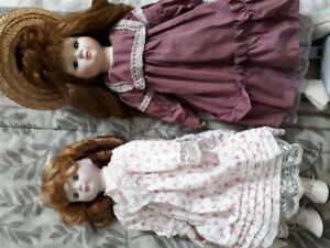 porcelain dolls..25 plus years old
