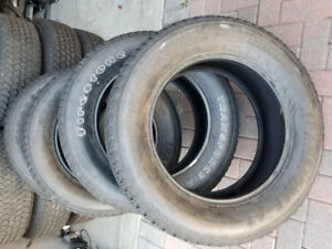 "FOUR FIRESTONE TRANSFORCE LT LOAD RANG E 20""  HEAVY DUTY TIRES"