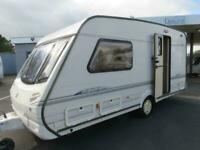 2000 ABBEY VOGUE 217 2 BERTH TOURING CARAVAN WITH END WASHROOM..................