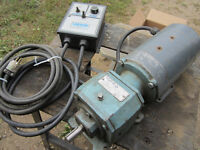 3/4 hp motor and reduction drive and controller