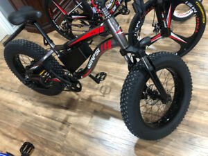 "ebike, electric bicycle, 4"" Fat bike,with shimano suspension bre"