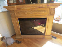Beautiful Antique Looking Electric Fireplace