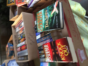 Books .25 soft cover .50 hard cover