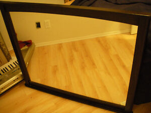 MUST SELL!! Dark wood mirror. !