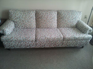 Sturdy couch/sofa. Matching mama chair. Clean.Cotton!