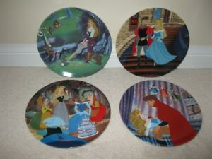 Walt Disney's Sleeping Beauty 4 Plate Collector Series