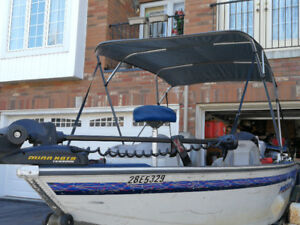 "1996 Princecraft 16'9""aluminium boat w/Evinrude 90hp for sale"