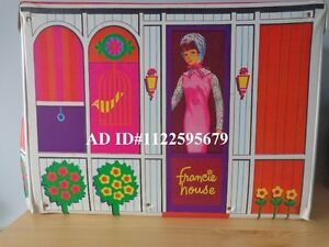 Vintage Barbie Francie Doll House Travel Case 1966 Mattel