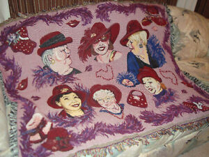 beautiful wall hanging featuring a bevy of Red Hat Ladies