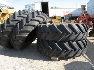 (4) 520/85R42 Michelin Radial Tires,95% Tread Remaining