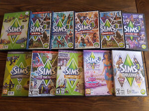Collection SIMS 3 Deluxe et 10 disques additionnels.
