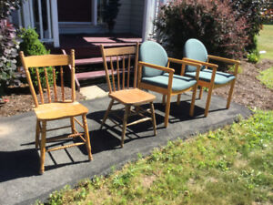 Various miscellaneous chairs for sale ($10 each)
