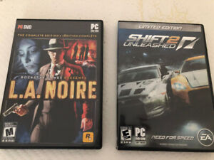 PC Games: L.A. Noire and Need for Speed Shift 2