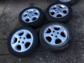Peugeot 306 Alloy wheels, tyres and bolts