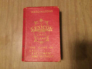 Antique 1933 Lexicon card game for sale