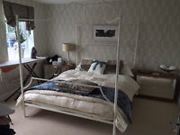 Beautiful Four Poster Metal Frame Bed (160cm x 200cm)