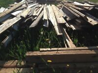 Large selection of reclaimed lumber-barn boards,rafters,T&G