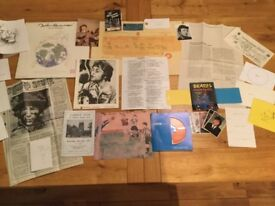 JOHN LENNON TRULY A GREAT COLLECTION OF 24 VERY INTERESTING AND AMAZING ITEMS