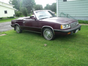 1986 Dodge 600 Convertible