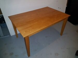 Solid Wood Kitchen Table & Chairs (with Bonus Bar Chairs)
