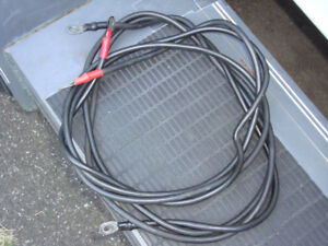 LIGHTLY USED BOAT BATTERY CABLES 6 GAUGE WIRE 8 FT LONG