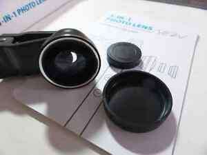 Fish eye 180 photo lens for phones and tablets